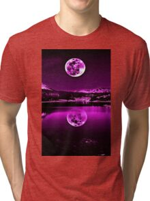 Nights Twilight Purple Sky Tri-blend T-Shirt