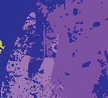 Oops, I think I Purpled; Abstract Digital Vector Art by Mynameisparrish