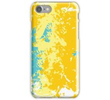 Yellow & Blue don't make green; Abstract Digital Vector Art iPhone Case/Skin