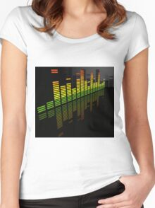 Comfortably Loud; Abstract Digital Vector Art Women's Fitted Scoop T-Shirt