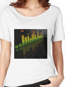 Comfortably Loud; Abstract Digital Vector Art Women's Relaxed Fit T-Shirt