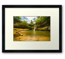 Upper Falls at Old Man's Cave in Hocking Hills, Ohio Framed Print