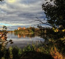 Linlithgow Loch and Palace, Scotland by Miles Gray