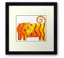 Happy Cat Framed Print