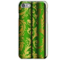 Green Curtain Call; Abstract Digital Vector Art iPhone Case/Skin