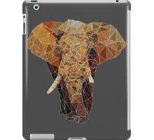PolygonElephant (White) iPad Case/Skin