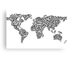 World Map white Canvas Print