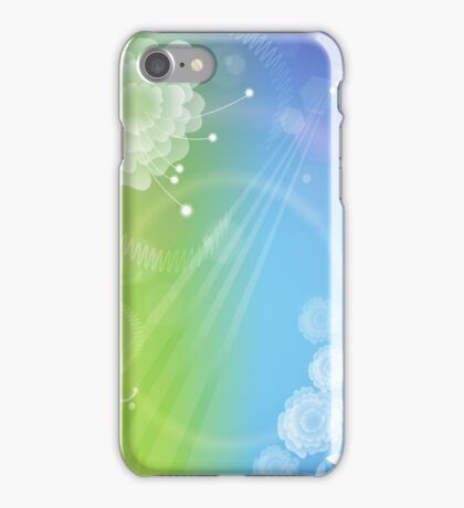Day & Night; Abstract Digital Vector Art iPhone Case/Skin