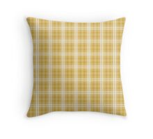 Fall 2016 Designer Color Mustard Yellow Tartan Plaid Check Throw Pillow