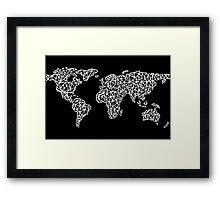World Map black Framed Print