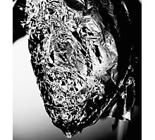 Abstract, Black and White Monochrome Shiny Fragment Design Photographic Print