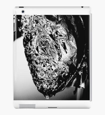 Abstract, Black and White Monochrome Shiny Fragment Design iPad Case/Skin