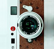 Vintage Classic retro White leather camera by Johnny Sunardi