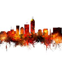 Indianapolis Indiana Skyline by Michael Tompsett