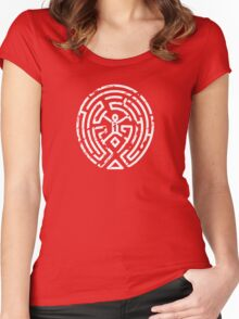 Westworld Maze Distressed Women's Fitted Scoop T-Shirt