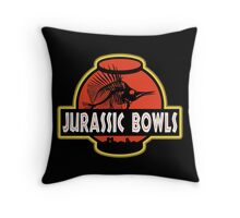 Jurassic Bowls Throw Pillow