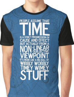 Wibbly Wobbly - Doctor Who Quote Graphic T-Shirt