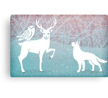 Winter In The White Woods Canvas Print