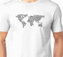 World Map white Unisex T-Shirt