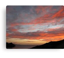 Evening Sky over Great Barrier Canvas Print