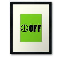 Funny peace sign Framed Print
