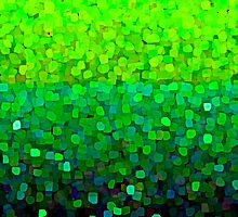 Green  and Blue Glowing Ocean Abstract by Saundra Myles
