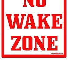 No Wake Zone by Groatsworth