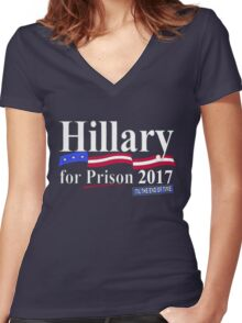 Hillary til the end of time 2017 Women's Fitted V-Neck T-Shirt