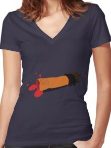 Yeti Arm Women's Fitted V-Neck T-Shirt