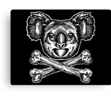 Koala and Crossbones Canvas Print