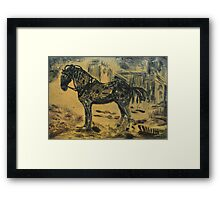 The Charger Framed Print