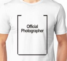 Funny Official Photograher t shirt Unisex T-Shirt