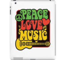 Rasta Peace, Love, Music iPad Case/Skin