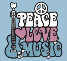 Peace, Love, Music Kids Tee