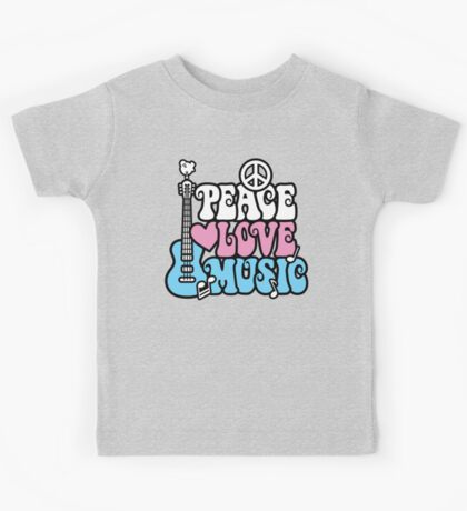 Peace, Love, Music Kids Tee