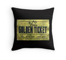 willy wonka golden ticket Throw Pillow