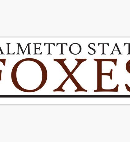 Palmetto Foxes Sticker