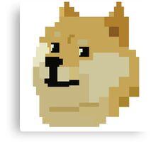 Pixel Doge Canvas Print