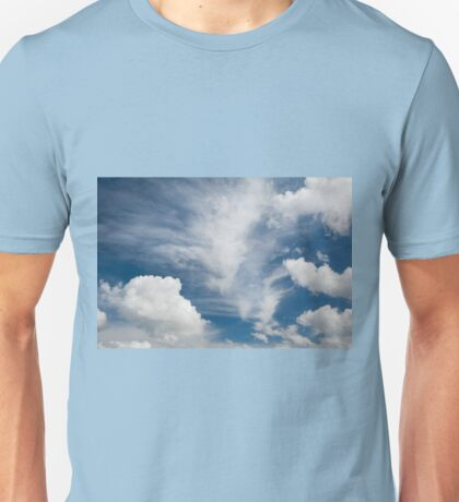 Cirrus and cumulus clouds formation Unisex T-Shirt