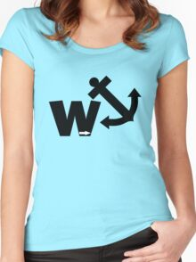 Funny wanker Women's Fitted Scoop T-Shirt