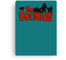 The Goonies logo and characters Canvas Print