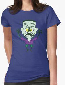 Scary Halloween Frankenstein Emoticon T-Shirt
