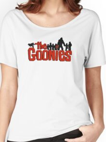 The Goonies logo and characters Women's Relaxed Fit T-Shirt