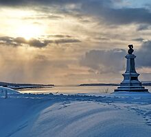 Late Afternoon Glow - Fort Anne in Winter by Shonda Hogan