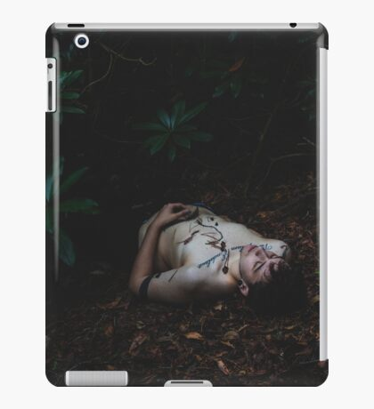 """The feathers on your breath dance along the wind and cut my chest. I'd follow you down any rabbit hole."" iPad Case/Skin"