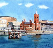 Cardiff Bay, South Wales by Helen Lush