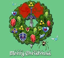 Zelda Christmas Card: Zelda themed Wreath by Alice Edwards