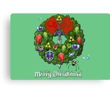 Zelda Christmas Card: Zelda themed Wreath Canvas Print