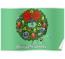 Zelda Christmas Card: Zelda themed Wreath Poster