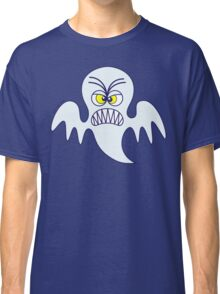 Scary Halloween Ghost Emoticon Classic T-Shirt